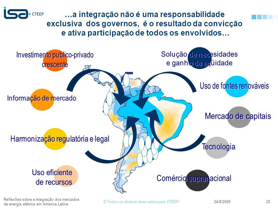 …a integração não é uma responsabilidade exclusiva dos governos, é o resultado da convicção e ativa participação de todos os envolvidos…