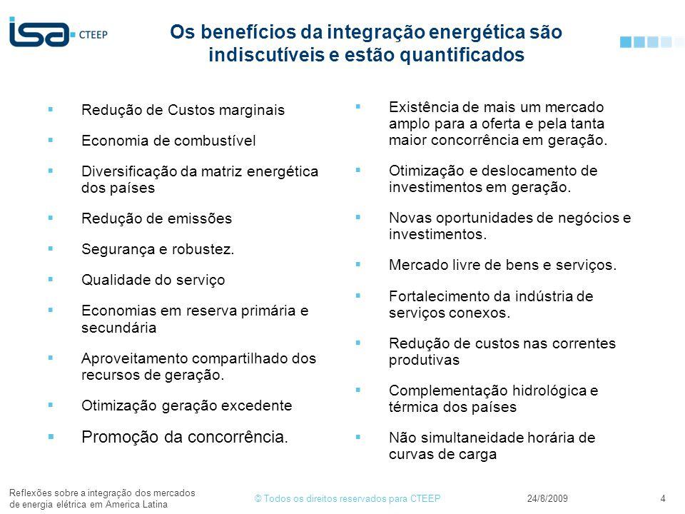 Os benefícios da integração energética são indiscutíveis e estão quantificados