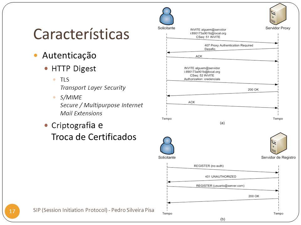 Características Autenticação HTTP Digest