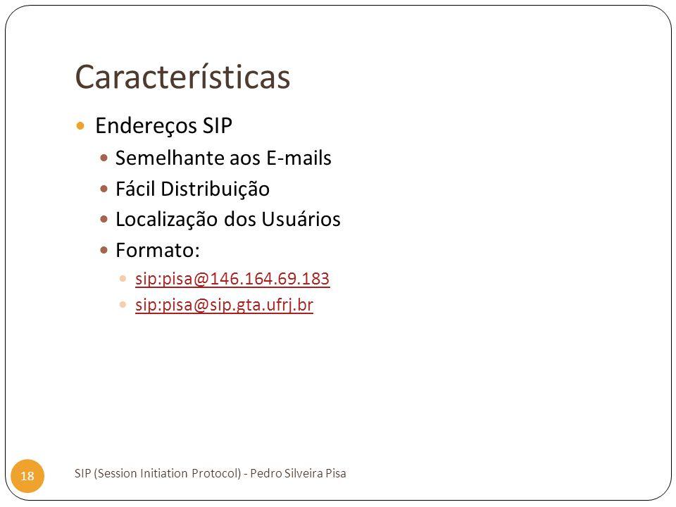 Características Endereços SIP Semelhante aos E-mails