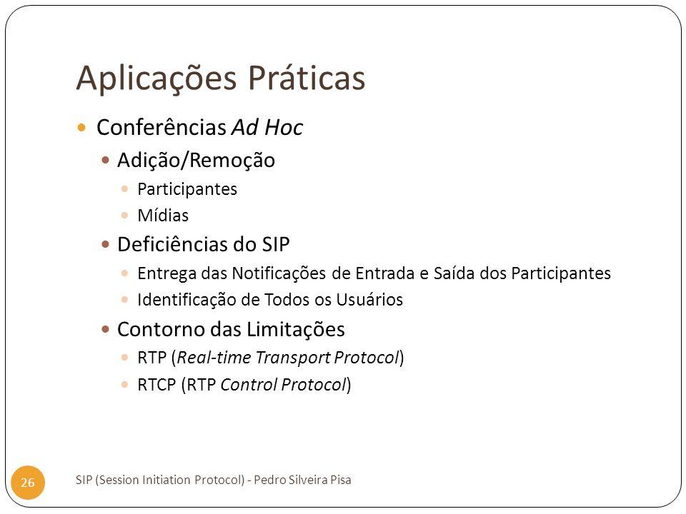 Aplicações Práticas Conferências Ad Hoc Adição/Remoção