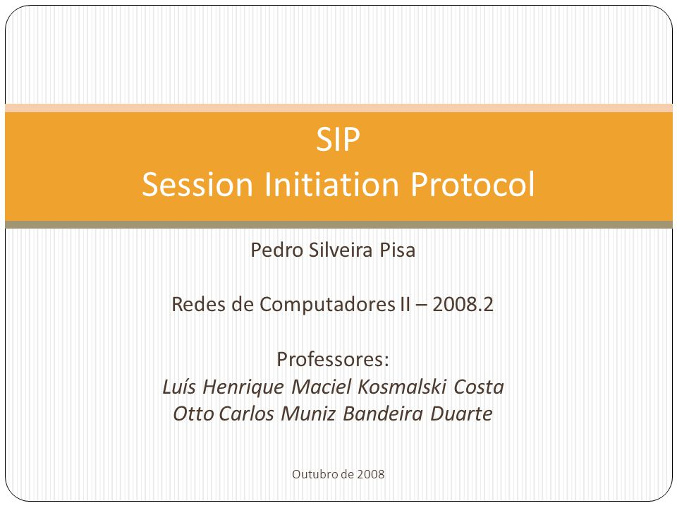 SIP Session Initiation Protocol