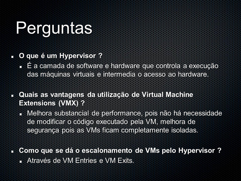 Perguntas O que é um Hypervisor