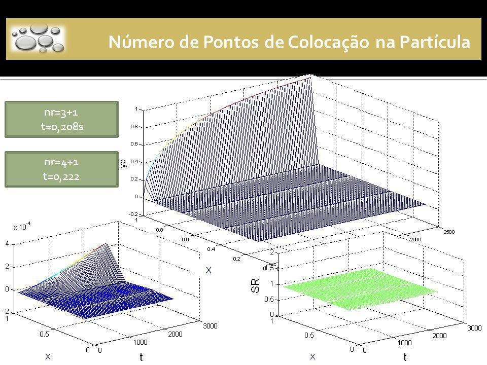 Número de Pontos de Colocação na Partícula