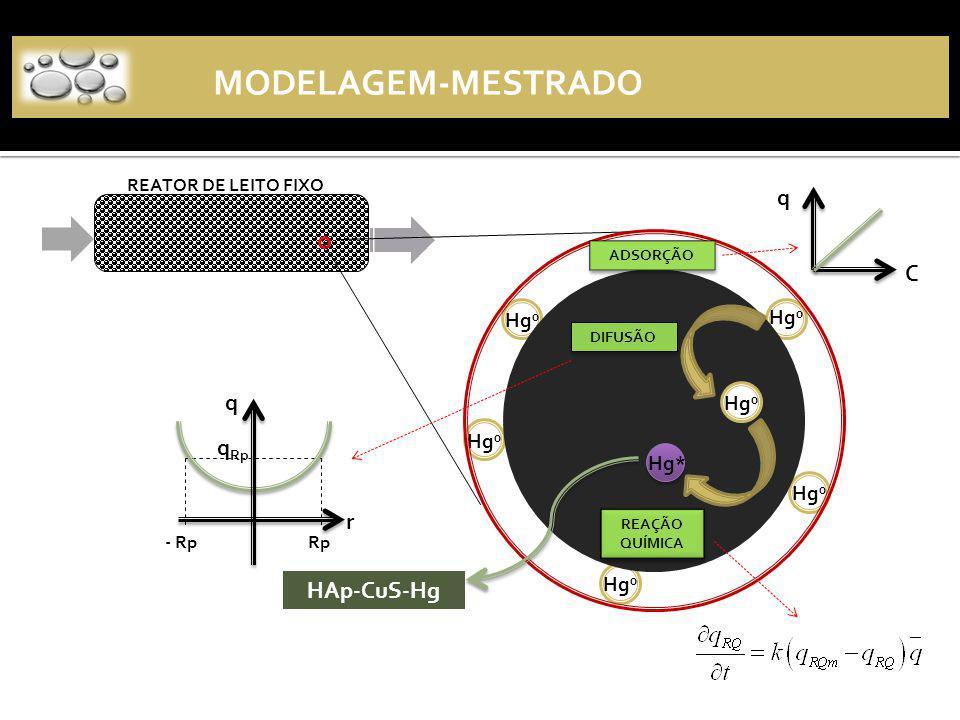 MODELAGEM-MESTRADO q C q qRp r HAp-CuS-Hg Hg0 Hg0 Hg0 Hg0 Hg* Hg0 Hg0