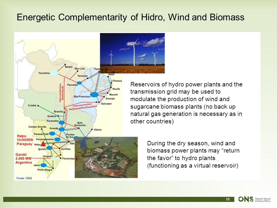 Energetic Complementarity of Hidro, Wind and Biomass