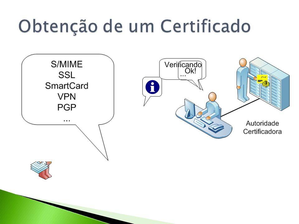 Obtenção de um Certificado