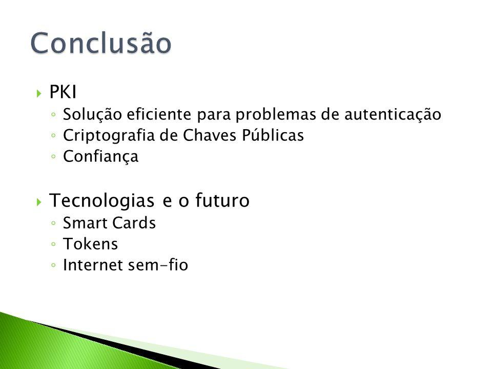 Conclusão PKI Tecnologias e o futuro