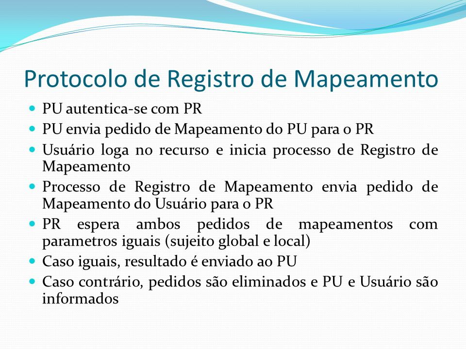 Protocolo de Registro de Mapeamento