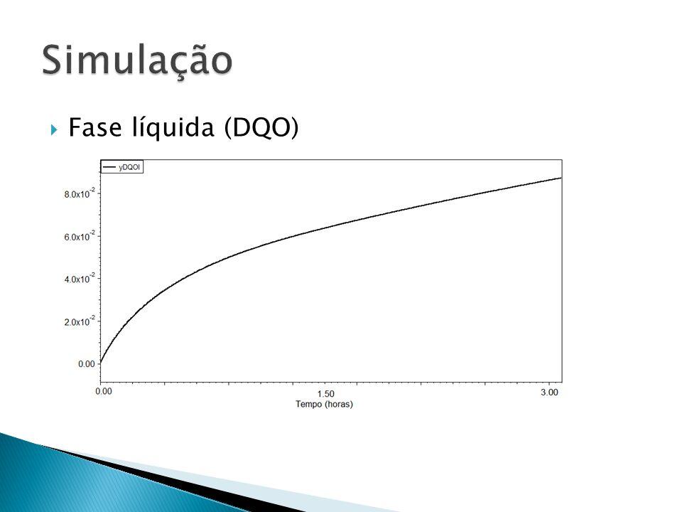Simulação Fase líquida (DQO)