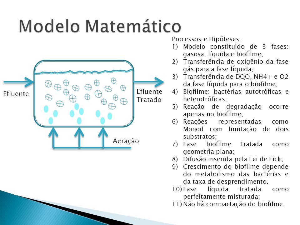 Modelo Matemático Efluente Efluente Tratado Aeração