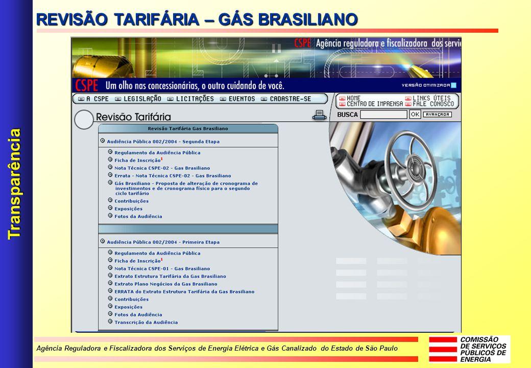 REVISÃO TARIFÁRIA – GÁS BRASILIANO