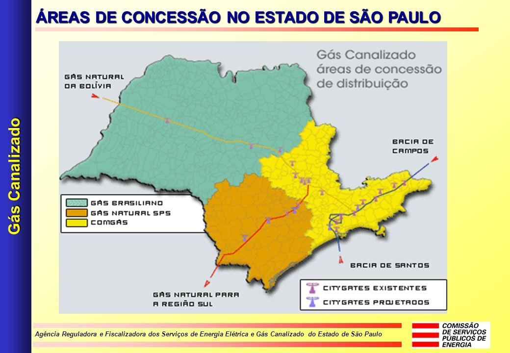 ÁREAS DE CONCESSÃO NO ESTADO DE SÃO PAULO