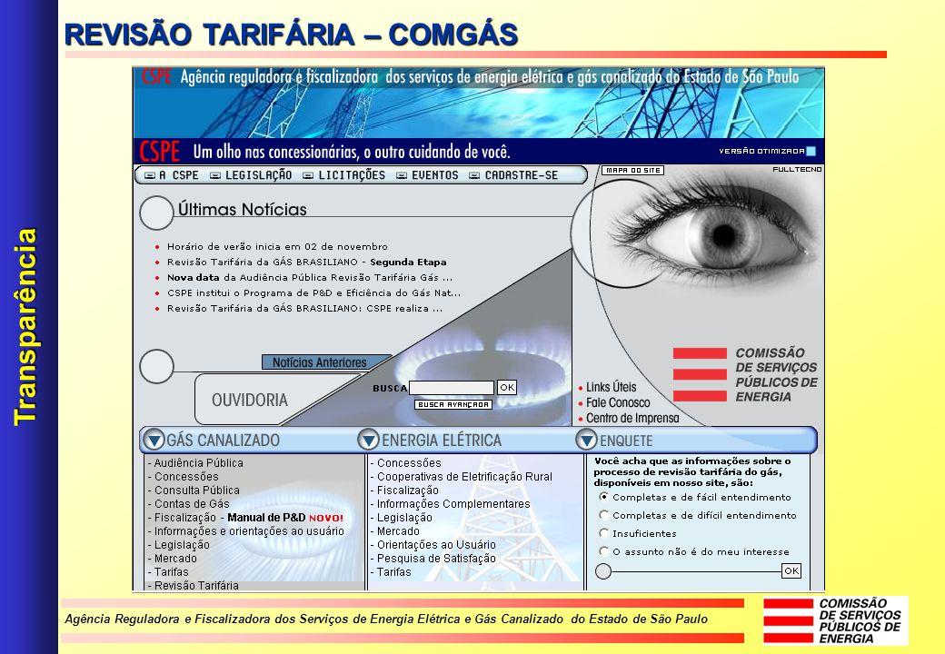 REVISÃO TARIFÁRIA – COMGÁS