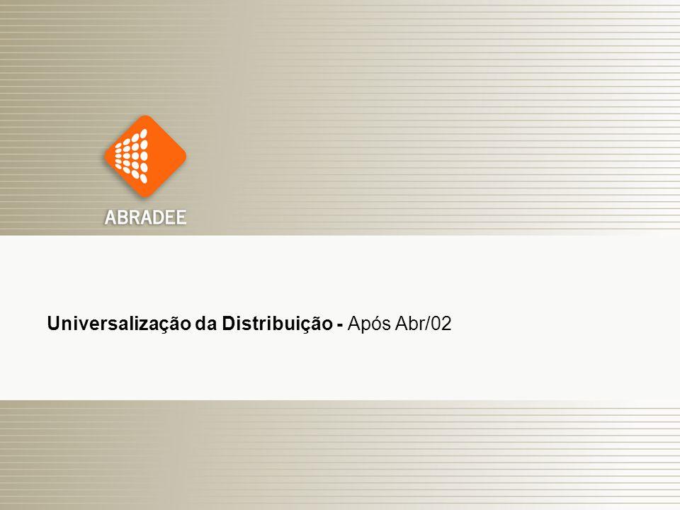 Universalização da Distribuição - Após Abr/02