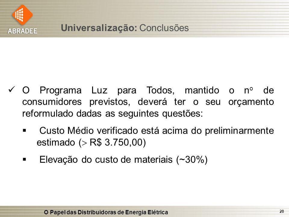 Universalização: Conclusões
