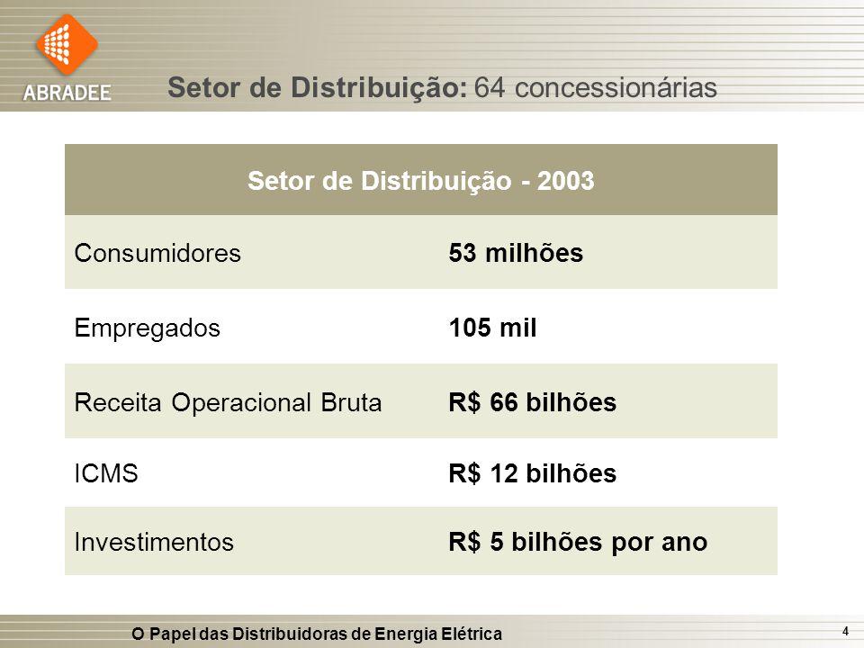 Setor de Distribuição - 2003