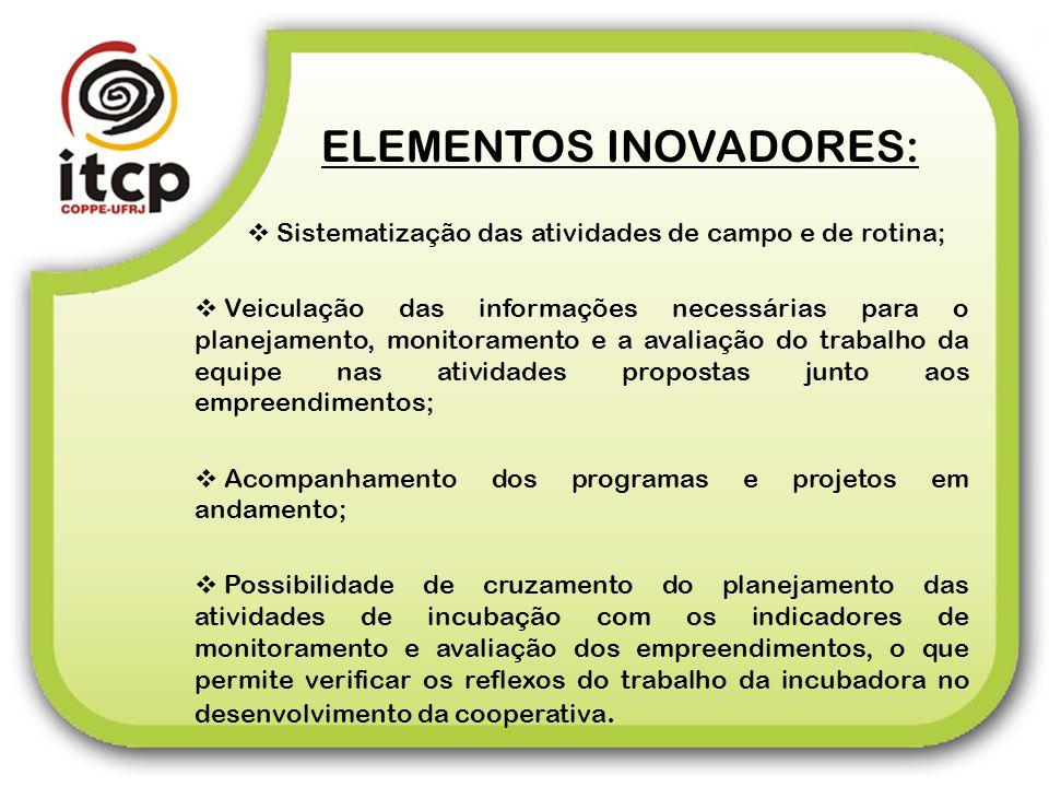 ELEMENTOS INOVADORES: