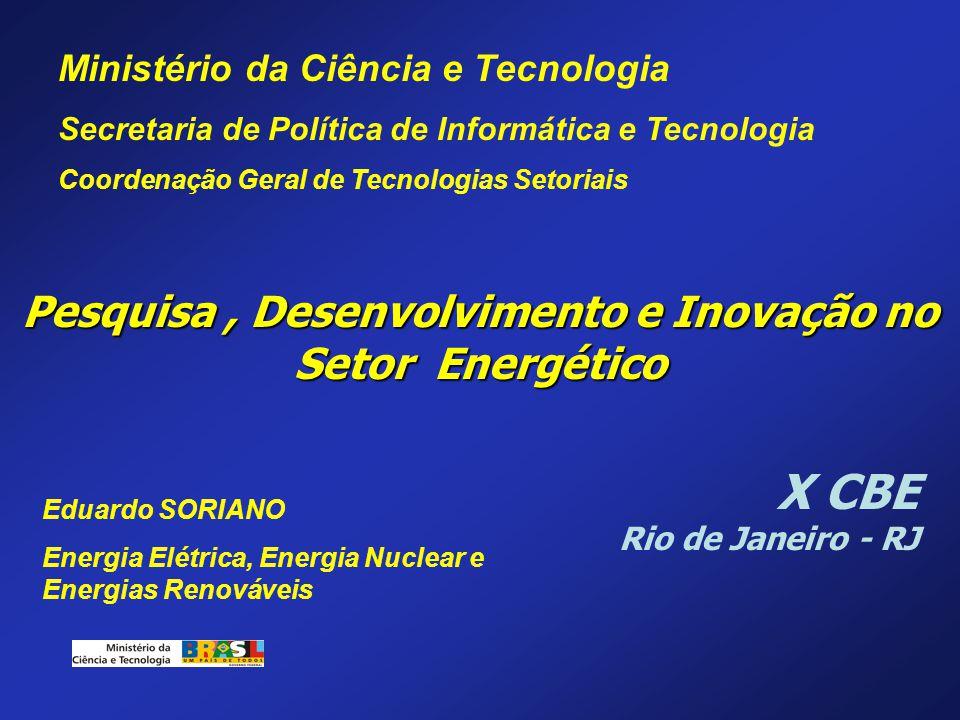 Pesquisa , Desenvolvimento e Inovação no Setor Energético