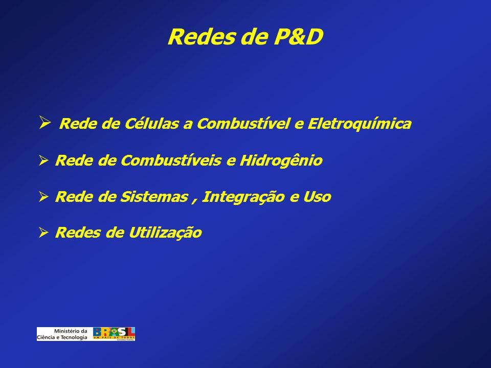Redes de P&D Rede de Células a Combustível e Eletroquímica