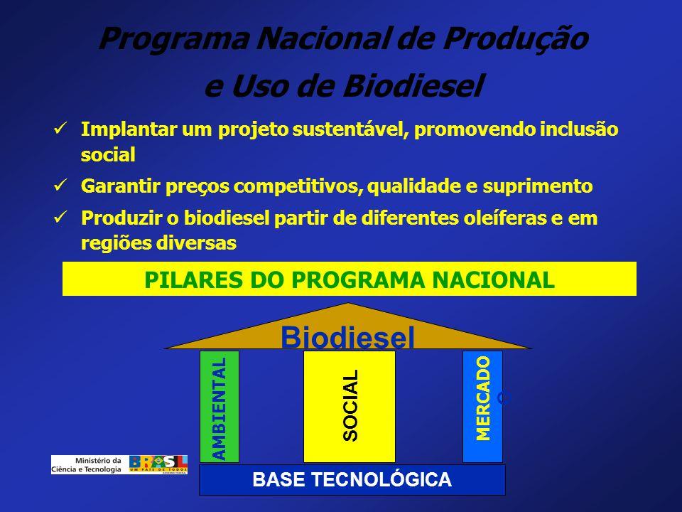 Programa Nacional de Produção PILARES DO PROGRAMA NACIONAL