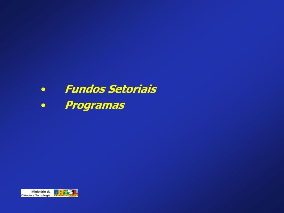 Fundos Setoriais Programas