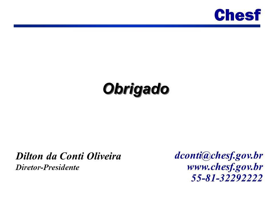 Obrigado dconti@chesf.gov.br www.chesf.gov.br 55-81-32292222