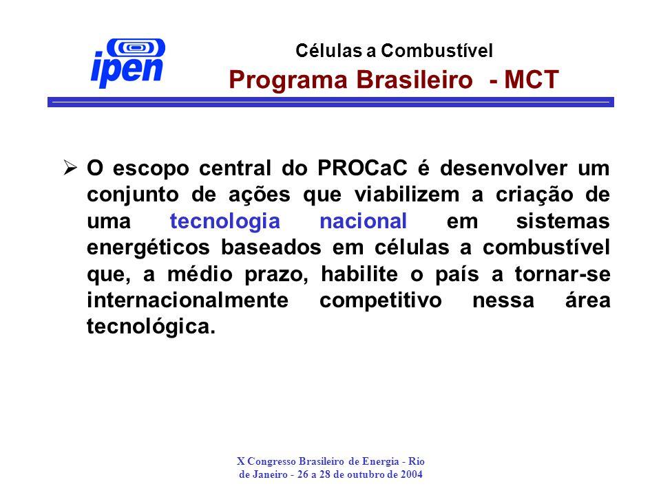 Células a Combustível Programa Brasileiro - MCT