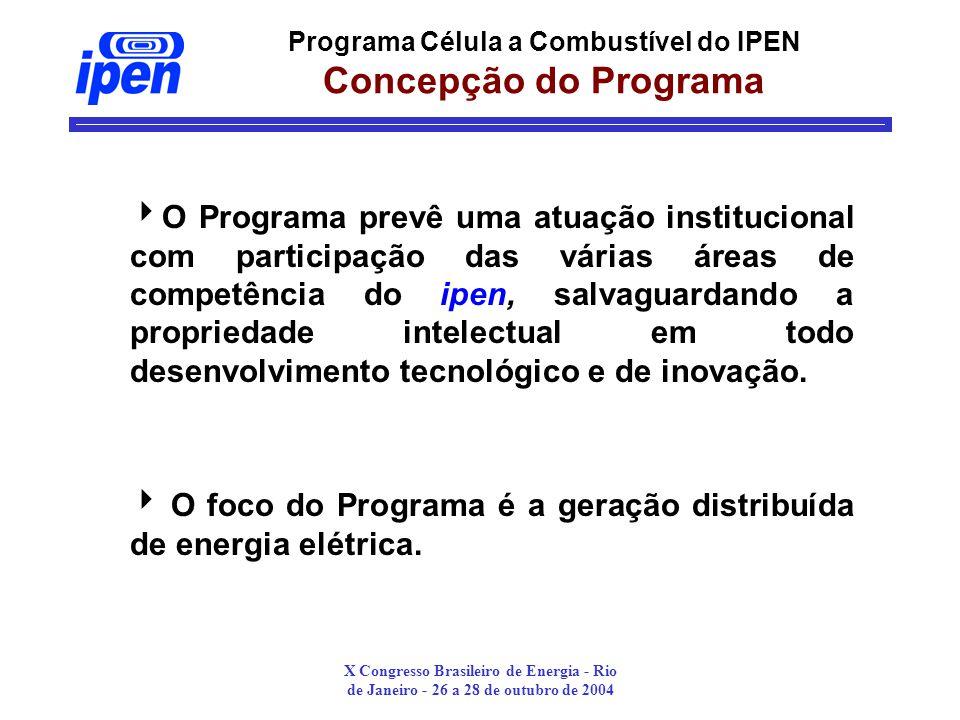Programa Célula a Combustível do IPEN Concepção do Programa