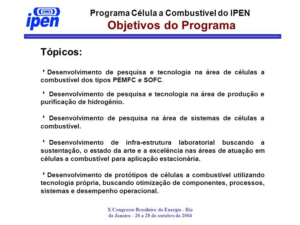 Programa Célula a Combustível do IPEN Objetivos do Programa