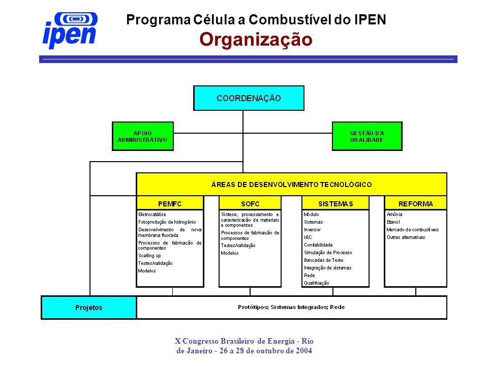 Programa Célula a Combustível do IPEN Organização