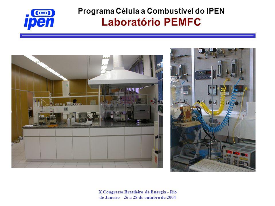 Programa Célula a Combustível do IPEN Laboratório PEMFC
