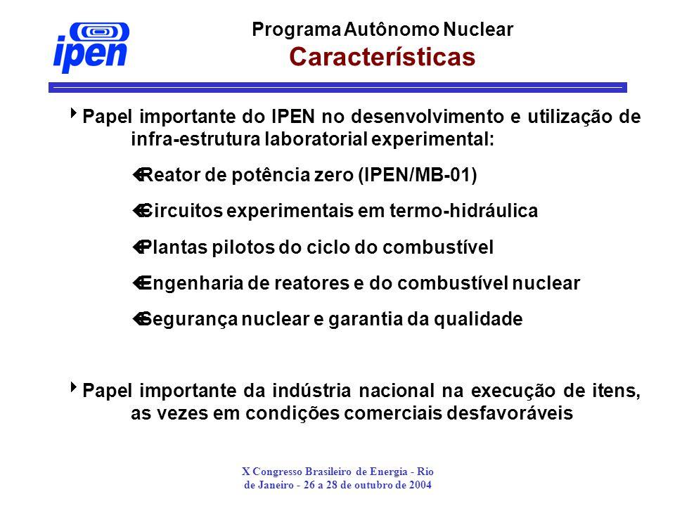 Programa Autônomo Nuclear Características