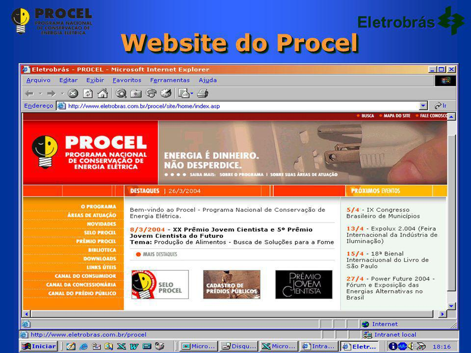 Eletrobrás Website do Procel