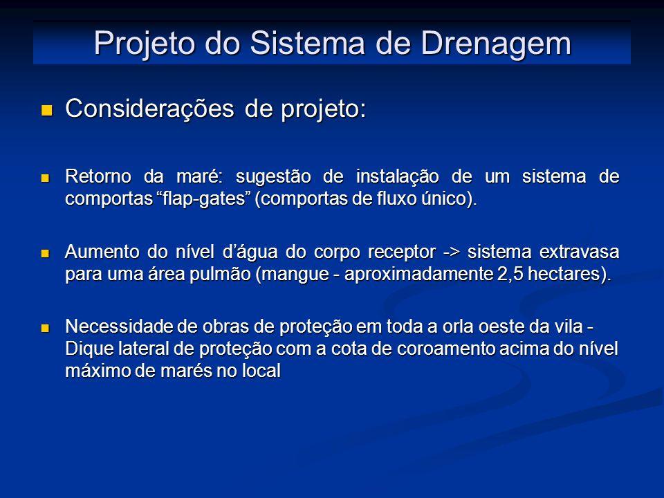 Projeto do Sistema de Drenagem