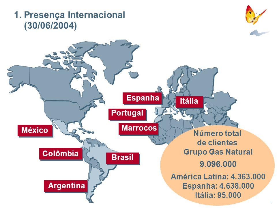 1. Presença Internacional (30/06/2004)