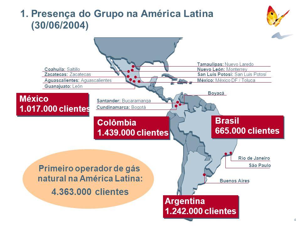 1. Presença do Grupo na América Latina (30/06/2004)