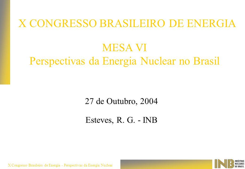 MESA VI Perspectivas da Energia Nuclear no Brasil