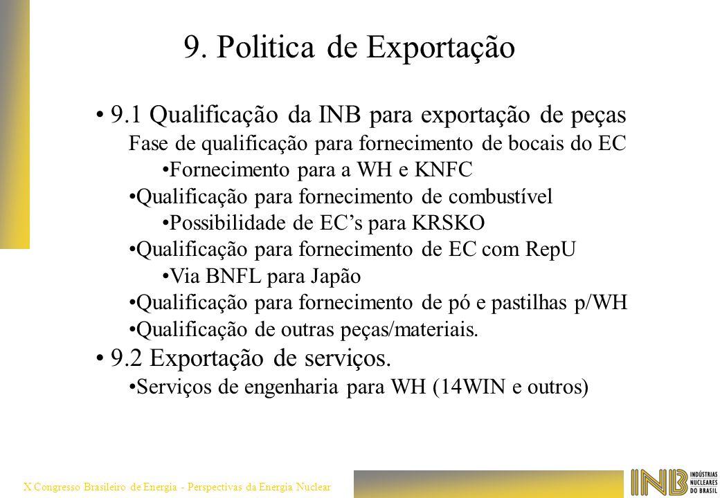 9. Politica de Exportação