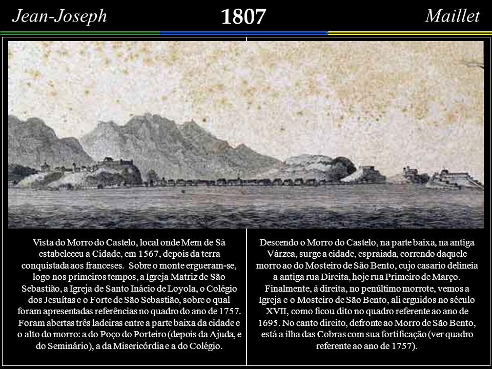 Vue des terres qui environnent le port de Rio de Janeiro