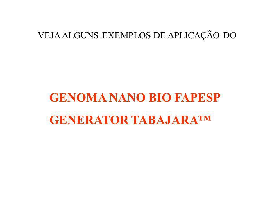 GENOMA NANO BIO FAPESP GENERATOR TABAJARA™