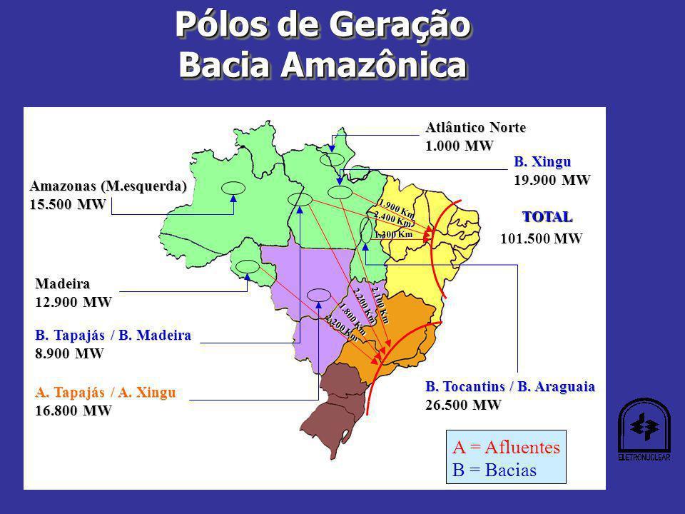 Pólos de Geração Bacia Amazônica