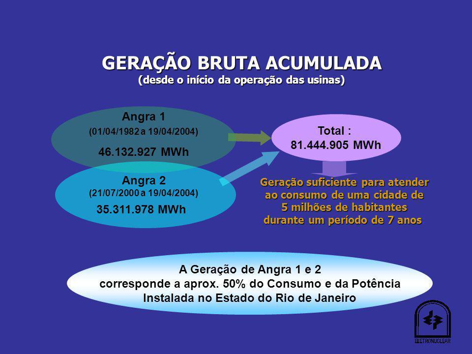 GERAÇÃO BRUTA ACUMULADA