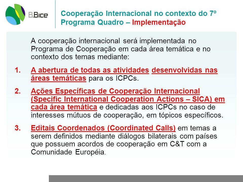 Cooperação Internacional no contexto do 7º Programa Quadro – Implementação