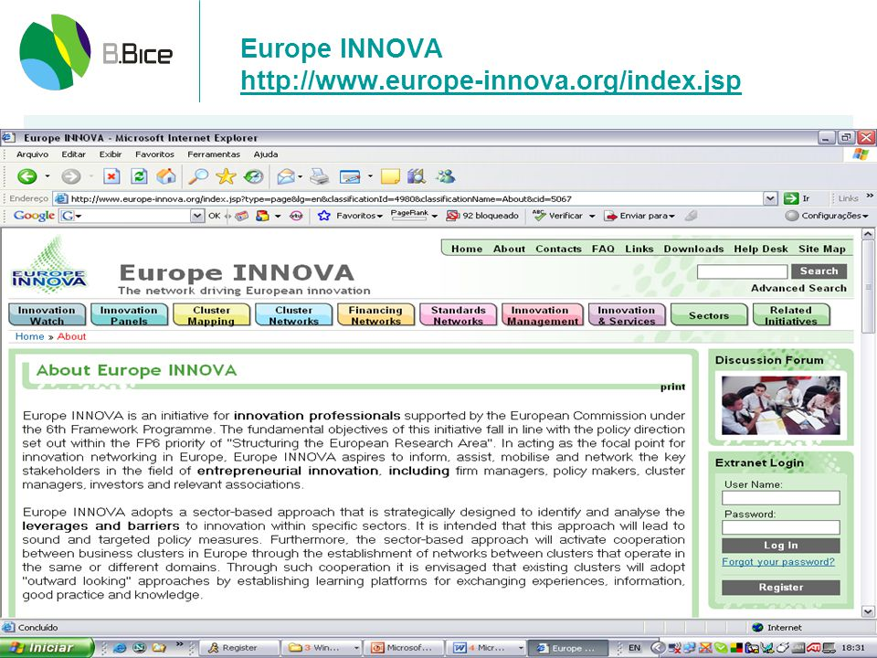 Europe INNOVA http://www.europe-innova.org/index.jsp