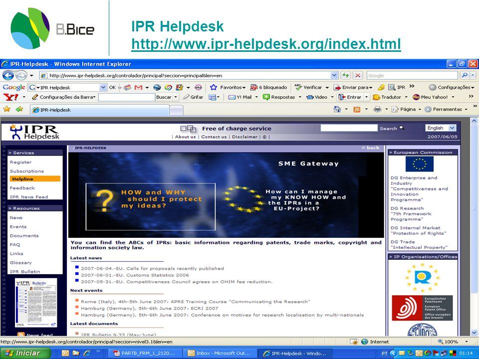 IPR Helpdesk http://www.ipr-helpdesk.org/index.html
