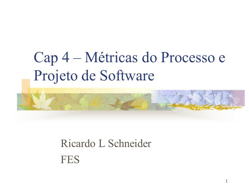 Cap 4 – Métricas do Processo e Projeto de Software