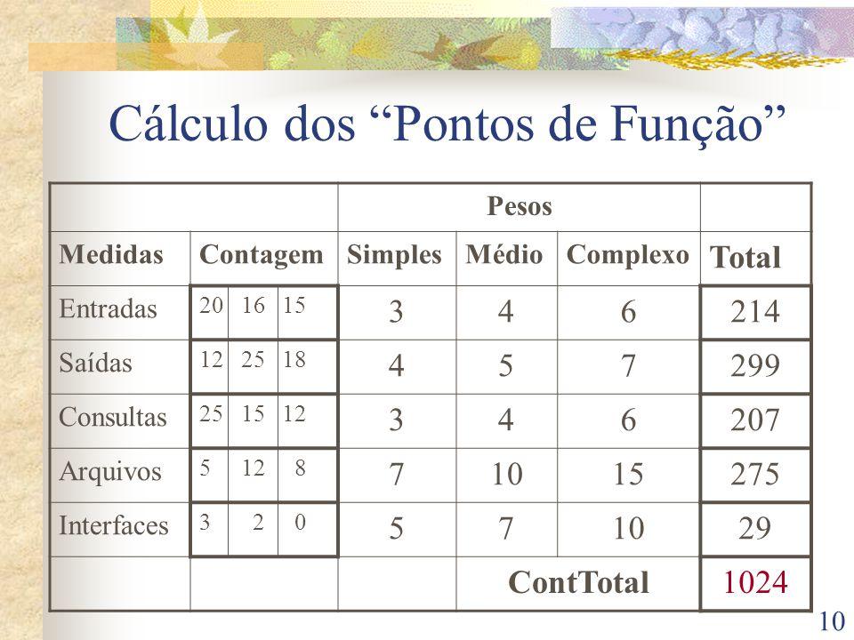 Cálculo dos Pontos de Função