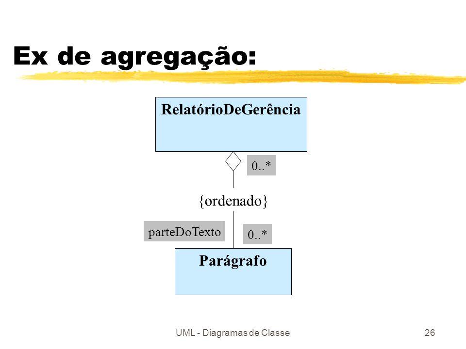 UML - Diagramas de Classe