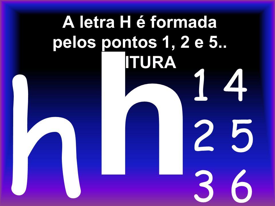 A letra H é formada pelos pontos 1, 2 e 5.. LEITURA